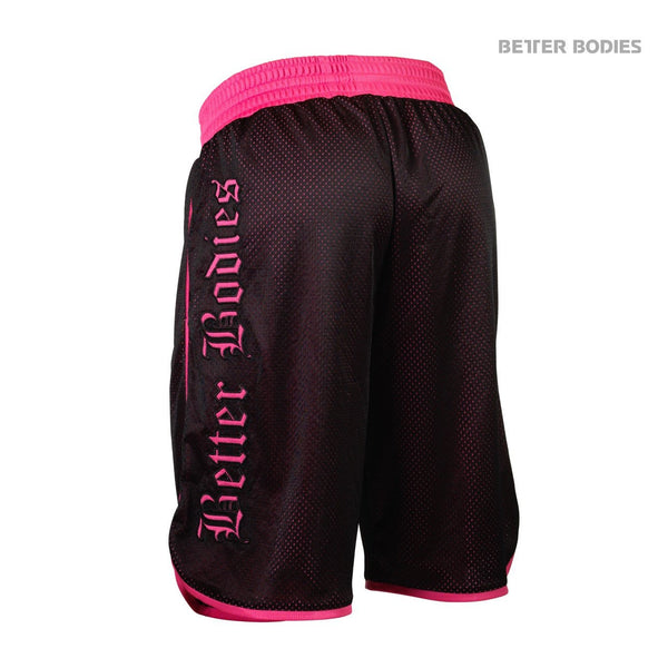 Better Bodies Women's Mesh Shorts Pink Back