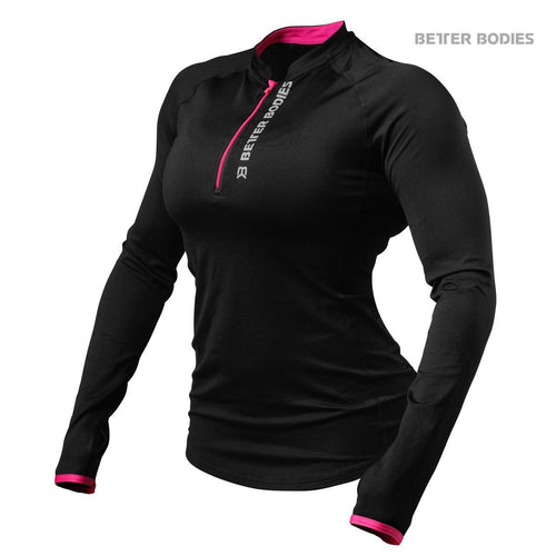 Better Bodies Women's Zipped Long Sleeve Black/Pink