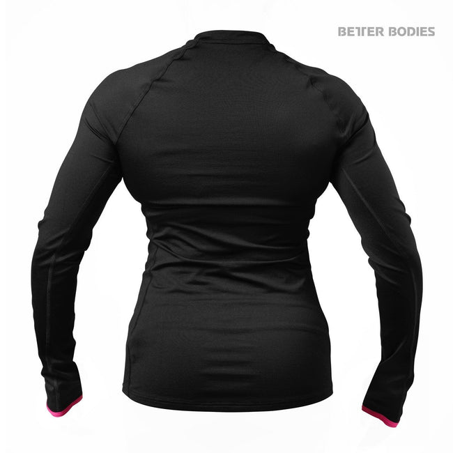 Better Bodies Women's Zipped Long Sleeve Black/Pink Back
