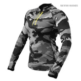 Better Bodies Women's Zipped Long Sleeve Grey Camo