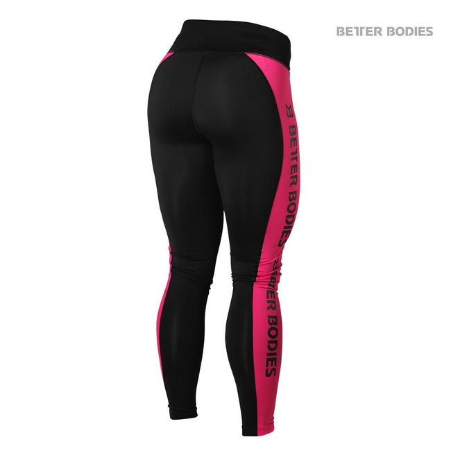 Better Bodies Side Panel Tights Pink Back