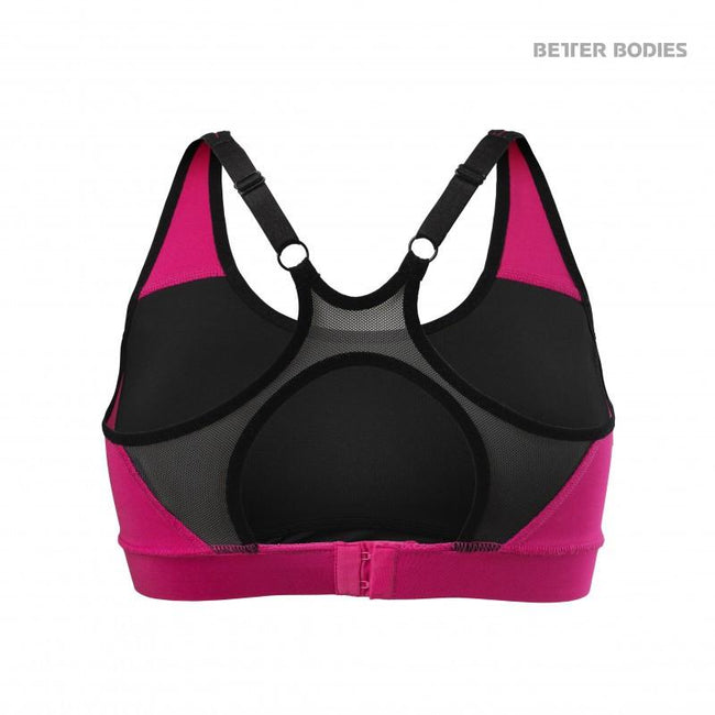 Better Bodies Sports Bra Hot Pink back