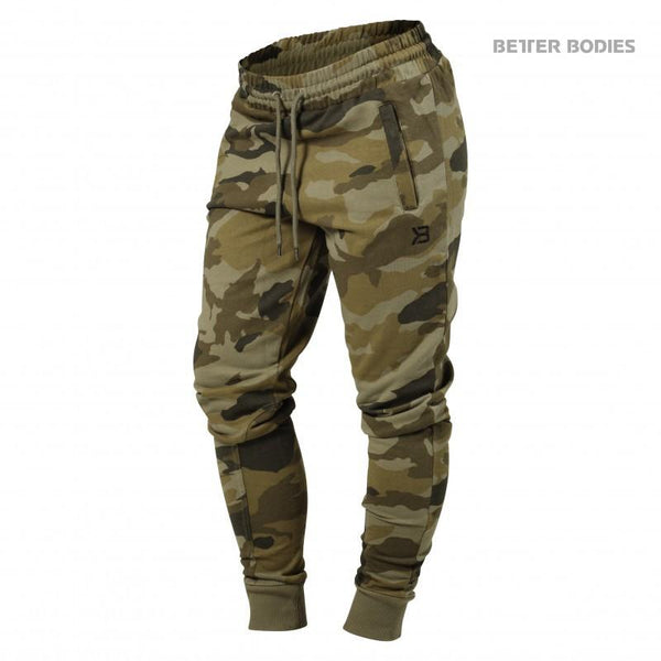 Better Bodies Womens Jogger Sweat Pants Green Camo
