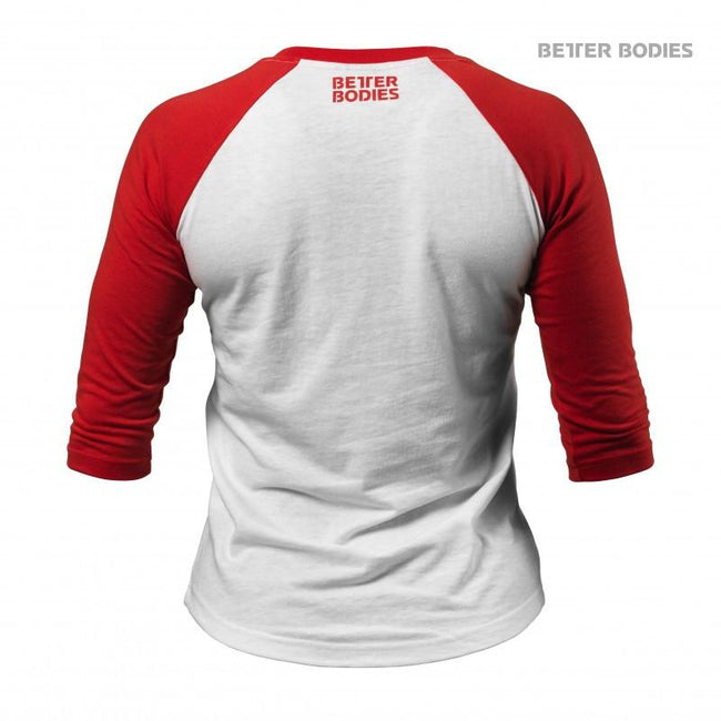 Better Bodies Womens Baseball Tee Red back