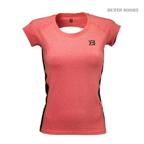 Better Bodies Performance Soft Tee, Fiery Coral