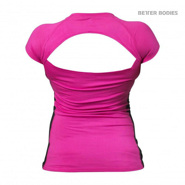 Better Bodies Performance Soft Tee Pink back