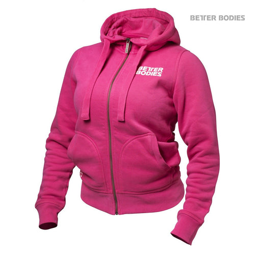 Better Bodies Womens Soft Hoodie, Hot Pink