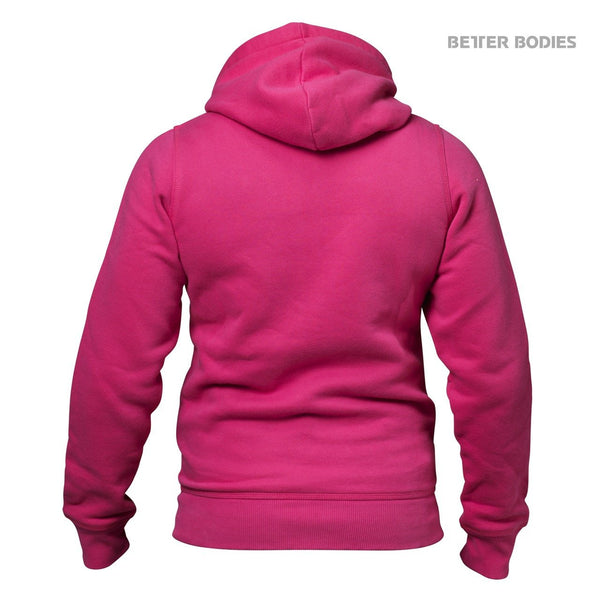 Better Bodies Womens Soft Hoodie, Hot Pink Back