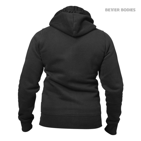 Better Bodies Womens Soft Hoodie, Black Back