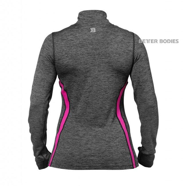 Better Bodies Women's Performance Longsleeve Graphite Pink back