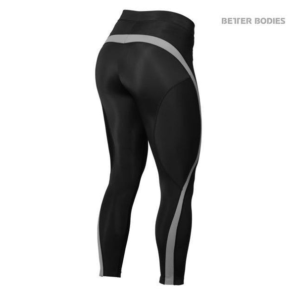 Better Bodies Curve Tights, Black/Grey Back