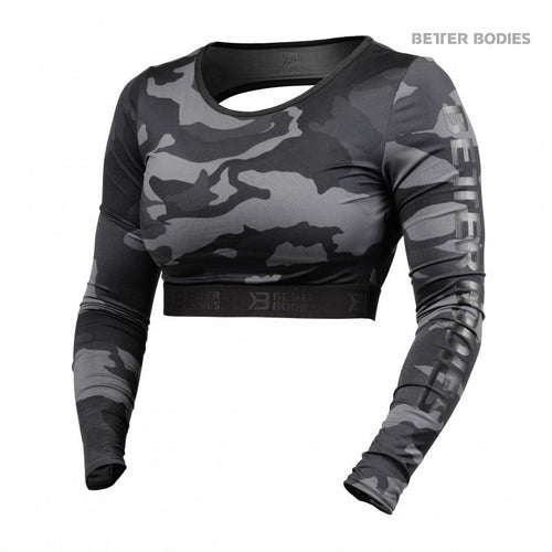 Better Bodies Chelsea Cropped Longsleeve Dark Camo