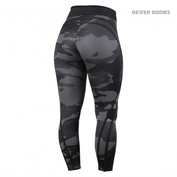 Better Bodies Camo High Tights, Dark Camo back
