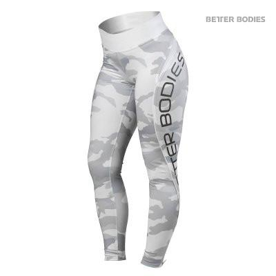 Better Bodies Camo High Tights, White Camo