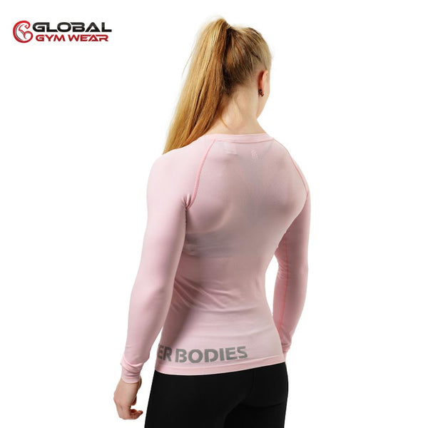 Better Bodies Women's Nolita Seamless Longsleeve Pale Pink back