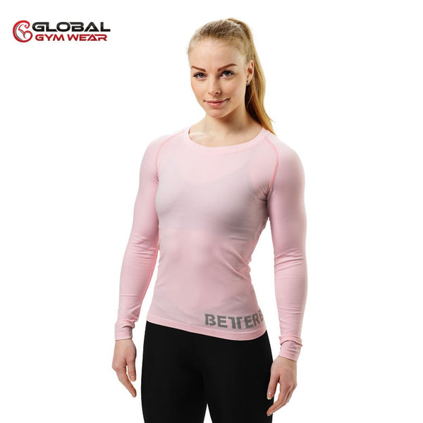 Better Bodies Women's Nolita Seamless Longsleeve Pale Pink