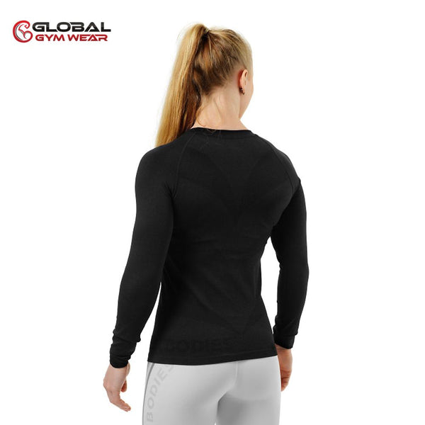 Better Bodies Women's Nolita Seamless Longsleeve Black back