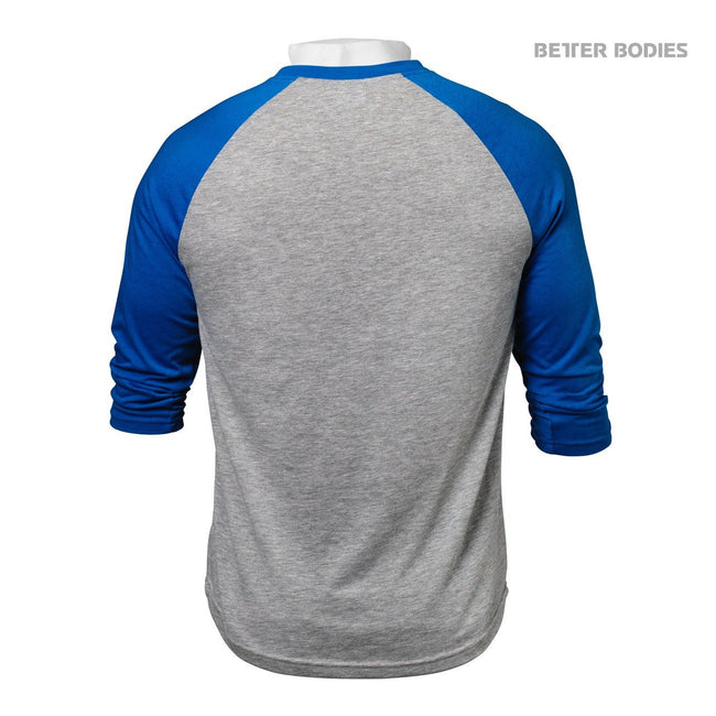 Better Bodies Baseball Tee Blue Back