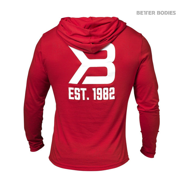 Better Bodies Soft Hoodie, Bright Red Back