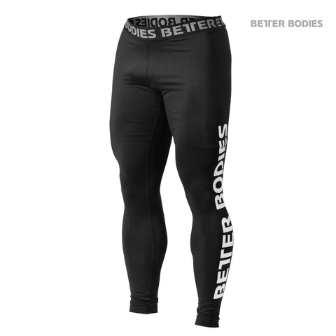 Better Bodies Mens Logo Tights, Black