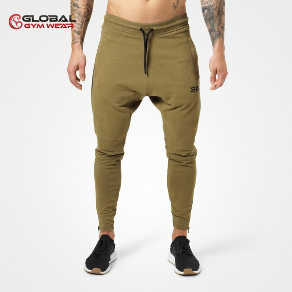 Better Bodies Harlem Zip Pants Military Green front