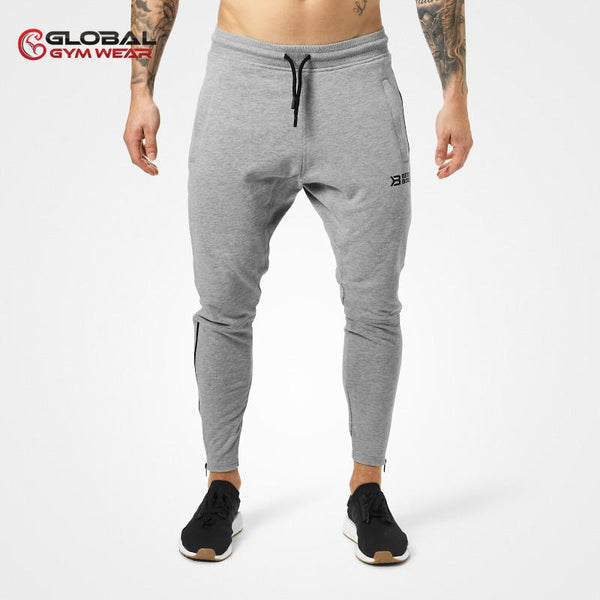 Better Bodies Harlem Zip Pants Grey front
