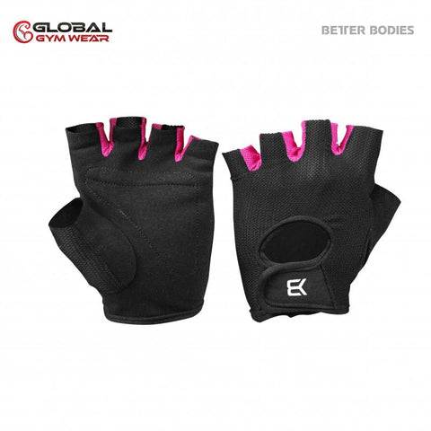 Better Bodies Womens Training Gloves Black/Pink