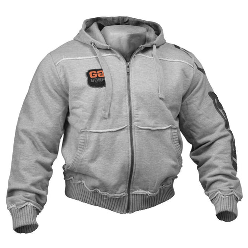 GASP Gym Hood Jacket Grey