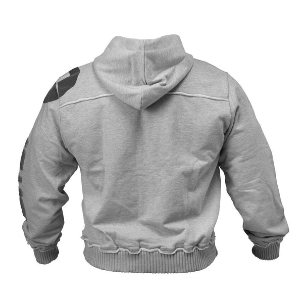 GASP Gym Hood Jacket Grey Back