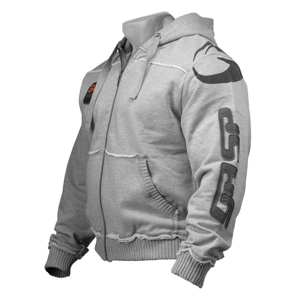 GASP Gym Hood Jacket Grey Side
