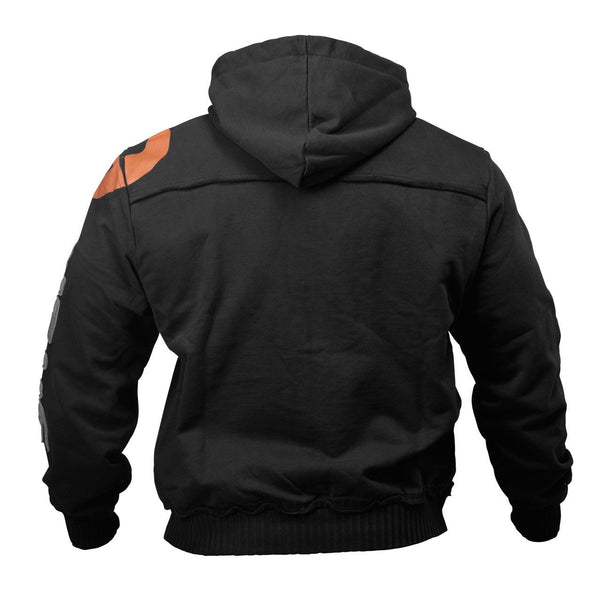 GASP Gym Hood Jacket Black Back