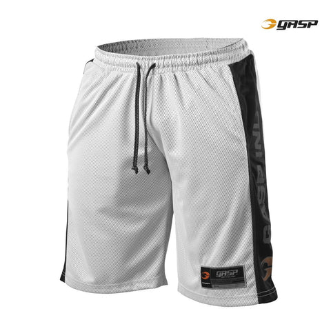 GASP No1 Mesh Shorts White/Black