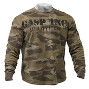 GASP Thermal Gym Sweater Camo Green