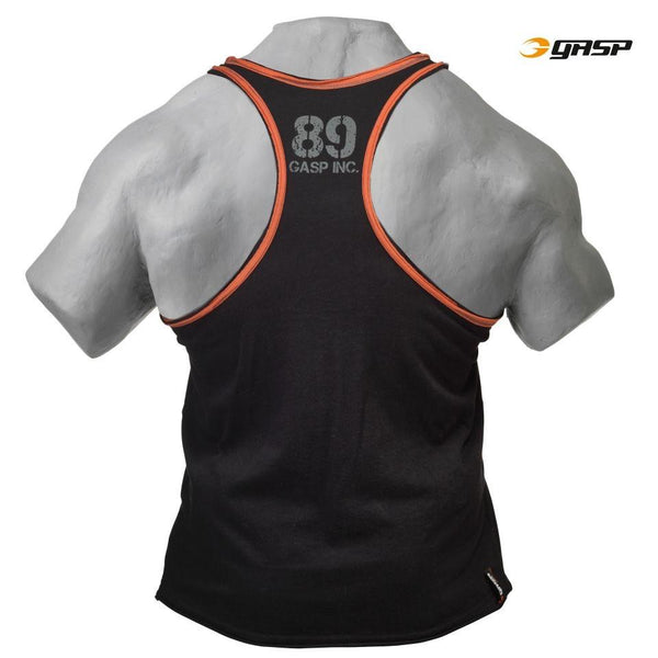 GASP Division Jersey T-Back Black/Flame Back