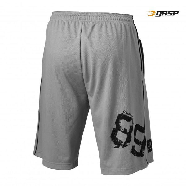 GASP 89 Mesh Shorts light grey back