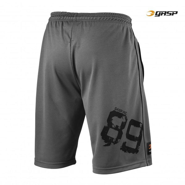 GASP 89 Mesh Shorts grey back