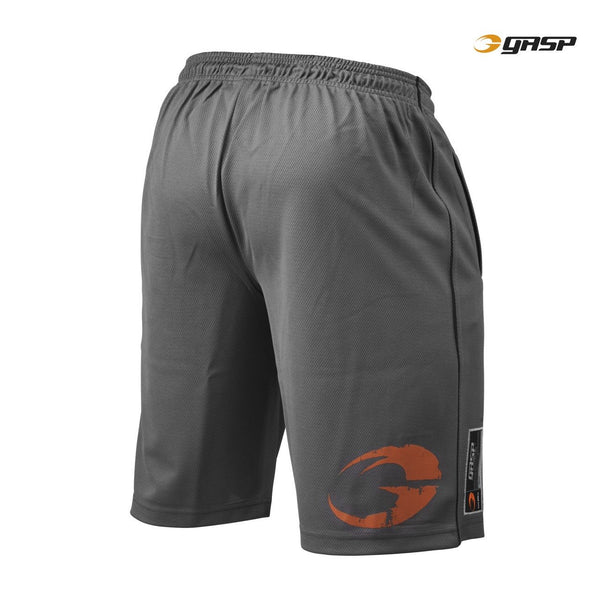 GASP Pro Mesh Shorts Grey Back