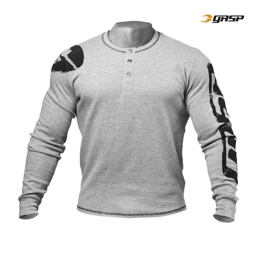 GASP Thermal Henley Grey