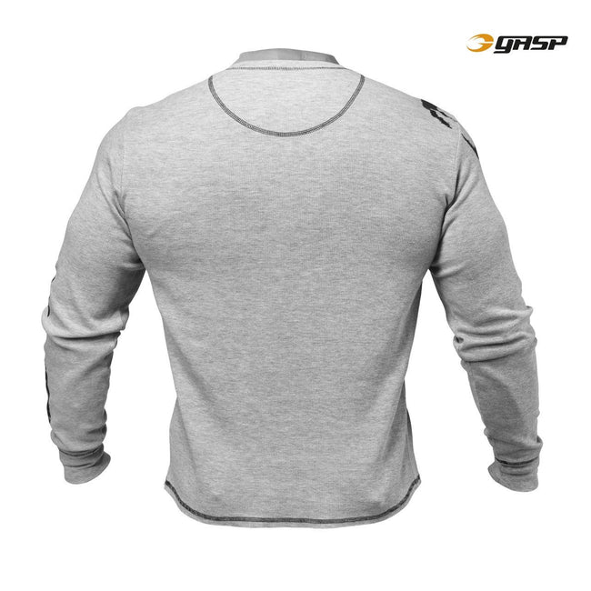 GASP Thermal Henley Grey Back