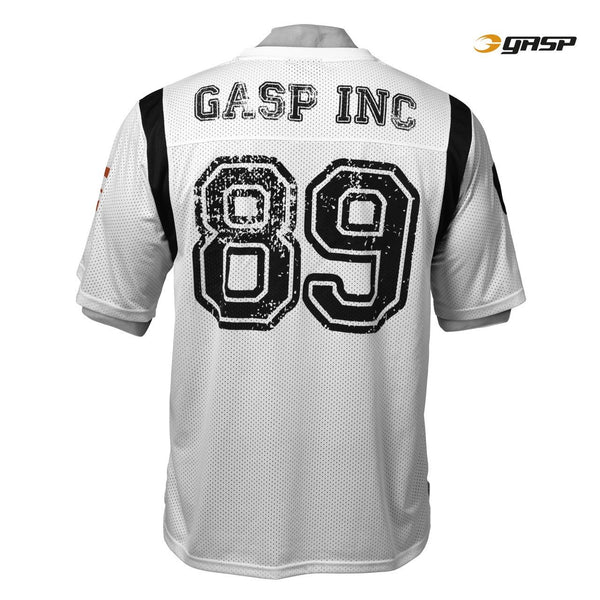 GASP Football Jersey Tee White Back