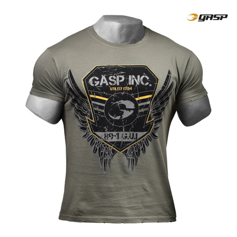 GASP Rough Print Tee for £0.40 at Global Gym Wear