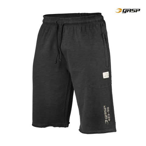 GASP Throwback Sweatshorts, Wash Black