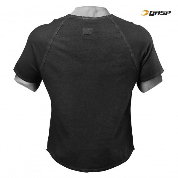 GASP Heritage Raglan Tee Wash Black back