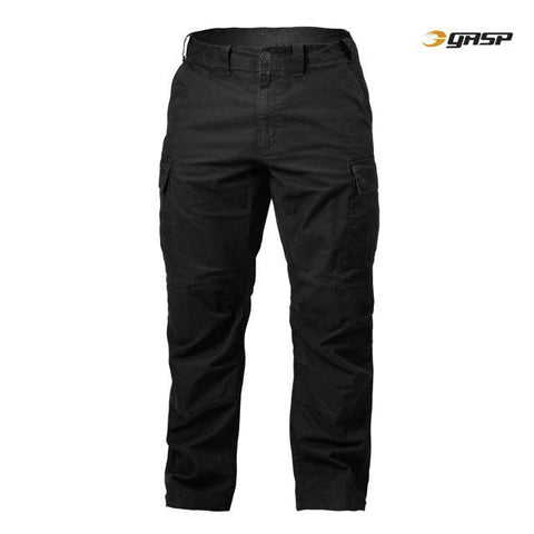 GASP Rough Cargo Pants, Wash Black