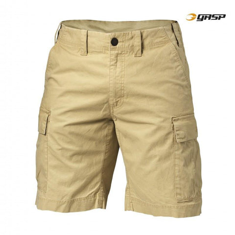 GASP Rough Cargo Shorts Dark Sand