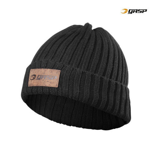 GASP Heavy Knitted Hat Black