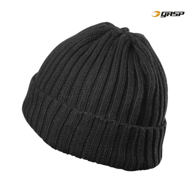 GASP Heavy Knitted Hat Black Back