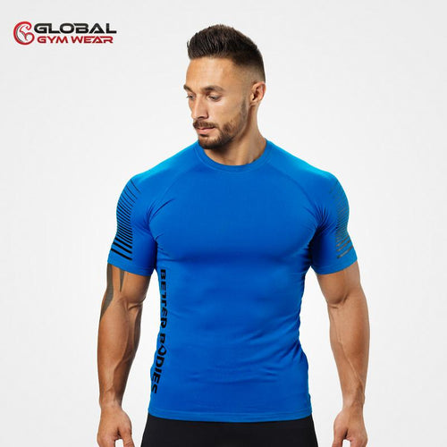 Better Bodies Performance PWR Tee Str Blue front