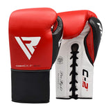 RDX Sports BOXING GLOVES LEATHER PRO FC2 RED