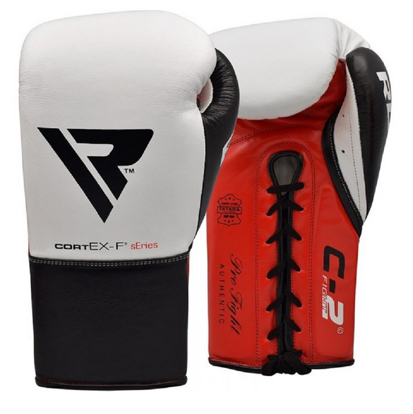 RDX Sports BOXING GLOVES LEATHER PRO FC2 WHITE